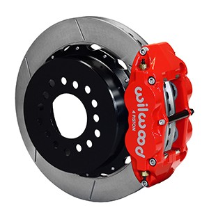 Wilwood Mustang Superlite 6R Rear Brake Kit Slotted Rotors Red (2005-2014)