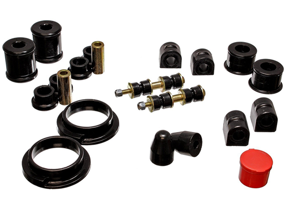 Focus Bushings; Suspension; Looking to upgrade your Focus's suspension? You've come to the right place! Steeda is world-renowned for our suspension and steering components. We offer a wide-range of upgrades, from lowering springs, caster camber plates, sway bars, end links, shocks/s
