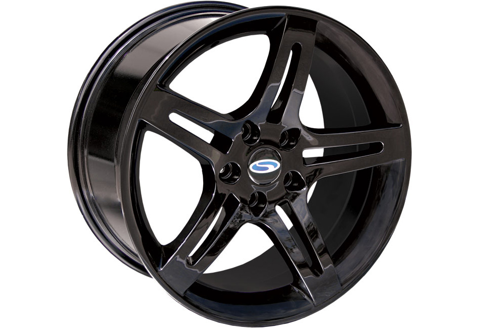 Steeda Pentar Mustang Wheel - Black - 18x9.5 (05-14) DISCONTINUED