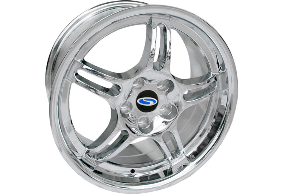 Steeda Chrome Q1C Mustang Wheel - 18x9.5 (05-14) DISCONTINUED