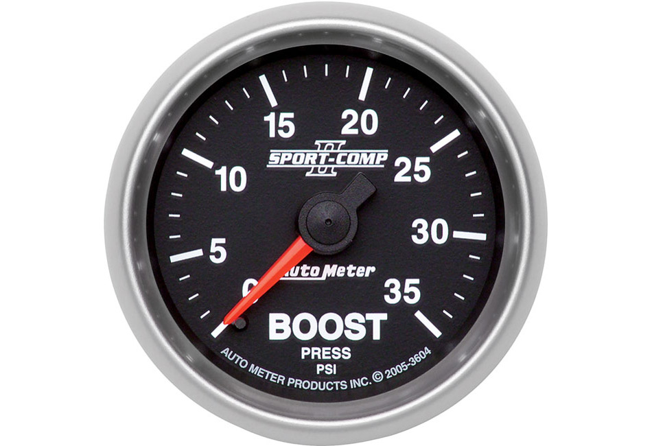 Autometer Sport Comp II Mechanical Boost Gauge