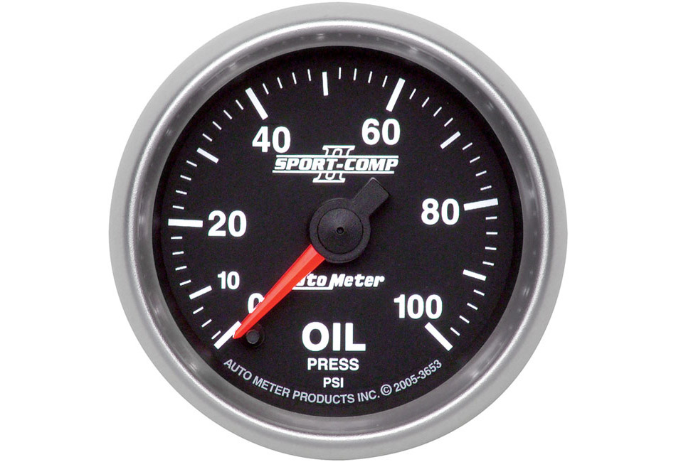 Autometer Sport Comp II Electric Oil Pressure Gauge