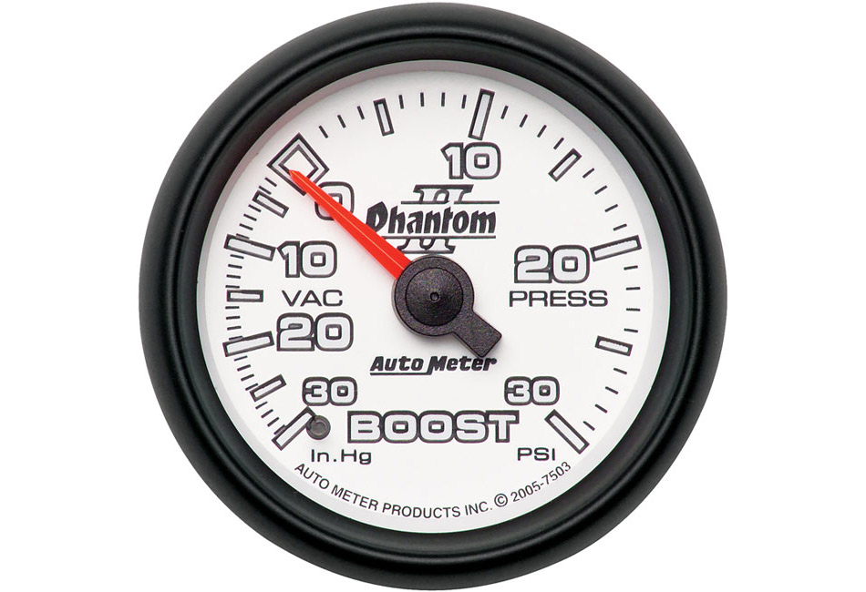 Autometer Phantom II Mechanical Boost/Vacuum Gauge