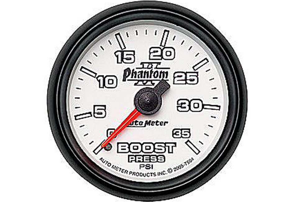 Autometer Phantom II Mechanical Boost Gauge