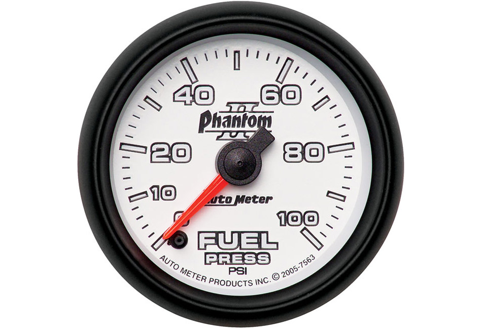 Autometer Phantom II Electric Fuel Pressure Gauge