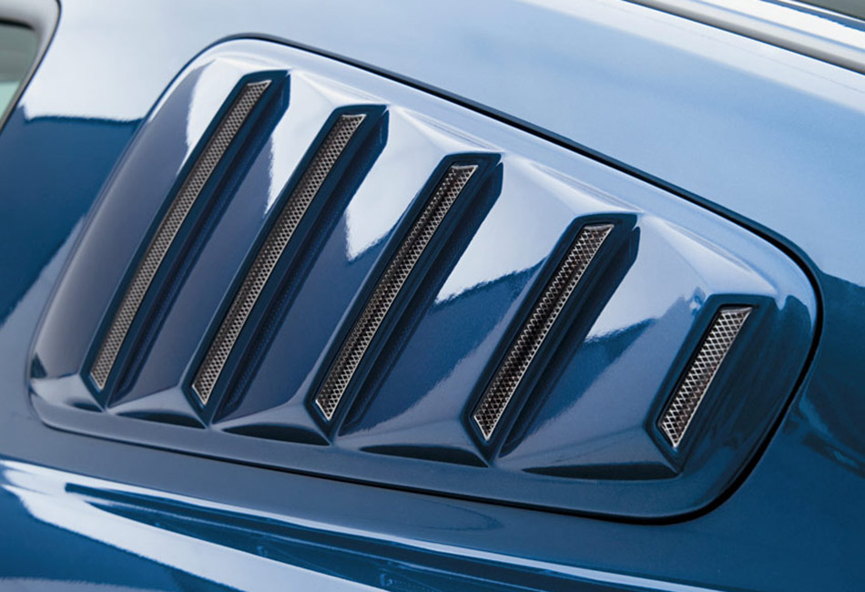3D Carbon Mustang Quarter Window Louvers (2005-2009)