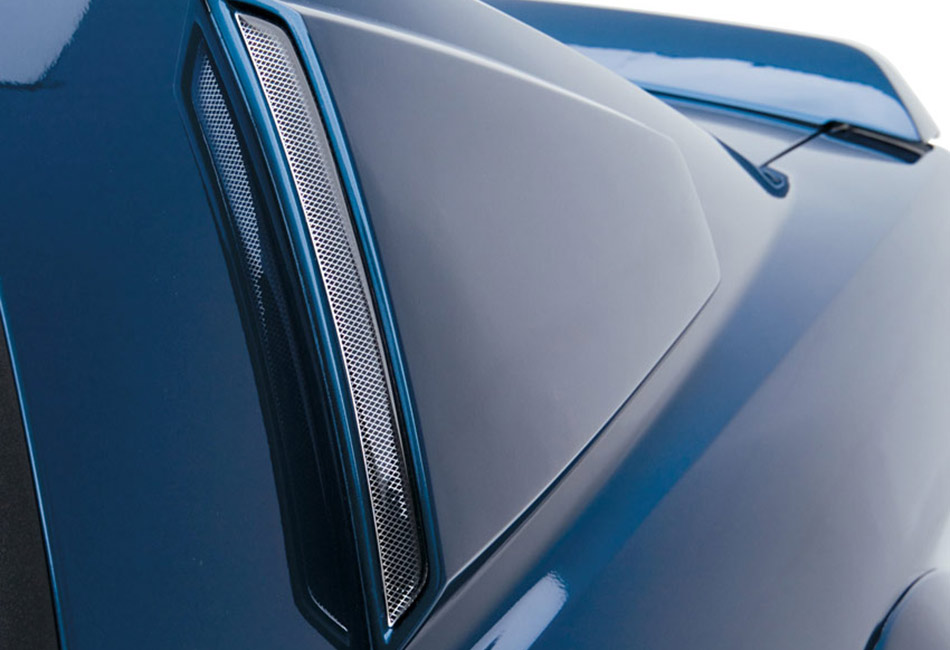 3D Carbon Mustang Quarter Window Scoops (2005-2009)