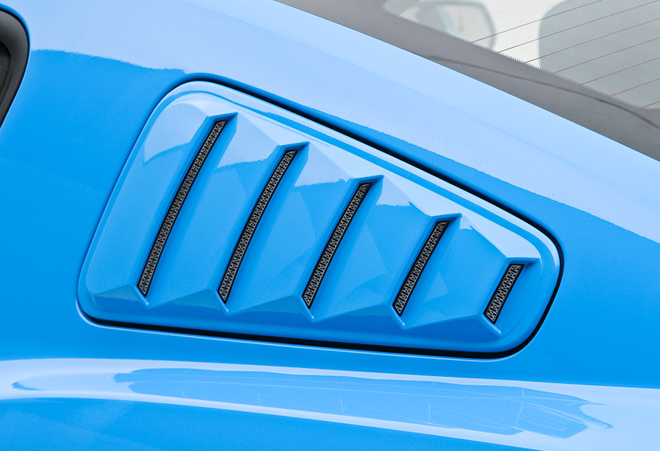 3D Carbon Mustang Window Louvers (10-14)