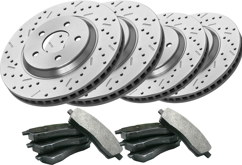 Steeda Focus Front and Rear Brake Kit (00-04)