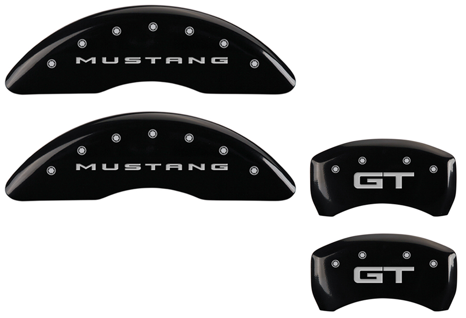MGP Mustang GT Caliper Covers - Glossy Black w/ GT logo - Front and Rear (2015-2020)