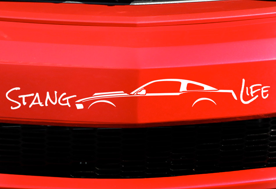 Stang Life Decal - White (2010-2014)