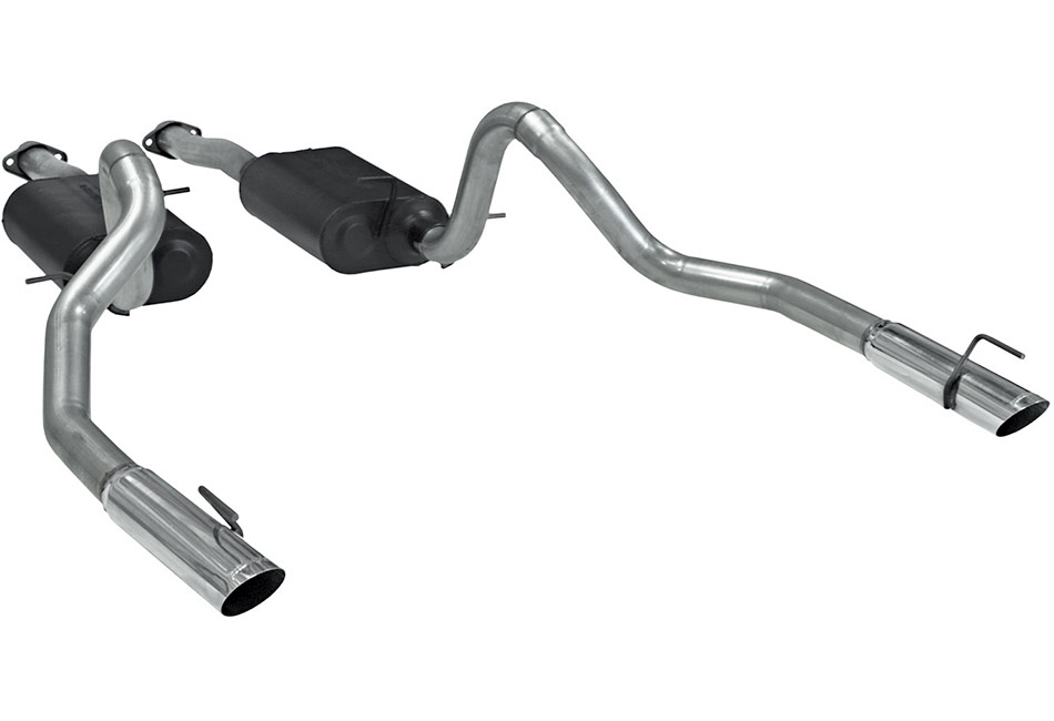 Flowmaster Mustang American Thunder Cat-Back Exhaust - Aluminized (99-04 GT)