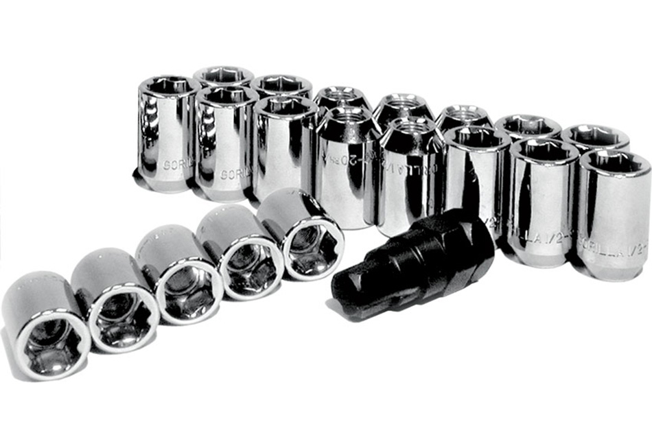 Gorilla Mustang Chrome 20 Piece Locking Lug Nut Set (1979-2014)