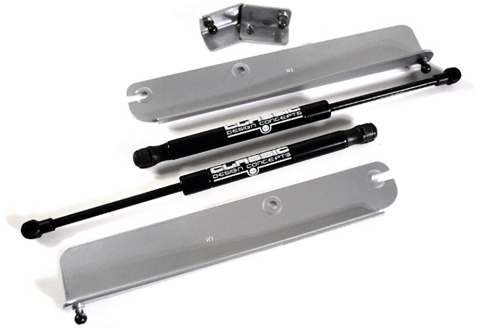 Classic Design Concepts Mustang Hood Strut Kit - Silver (05-14 All)