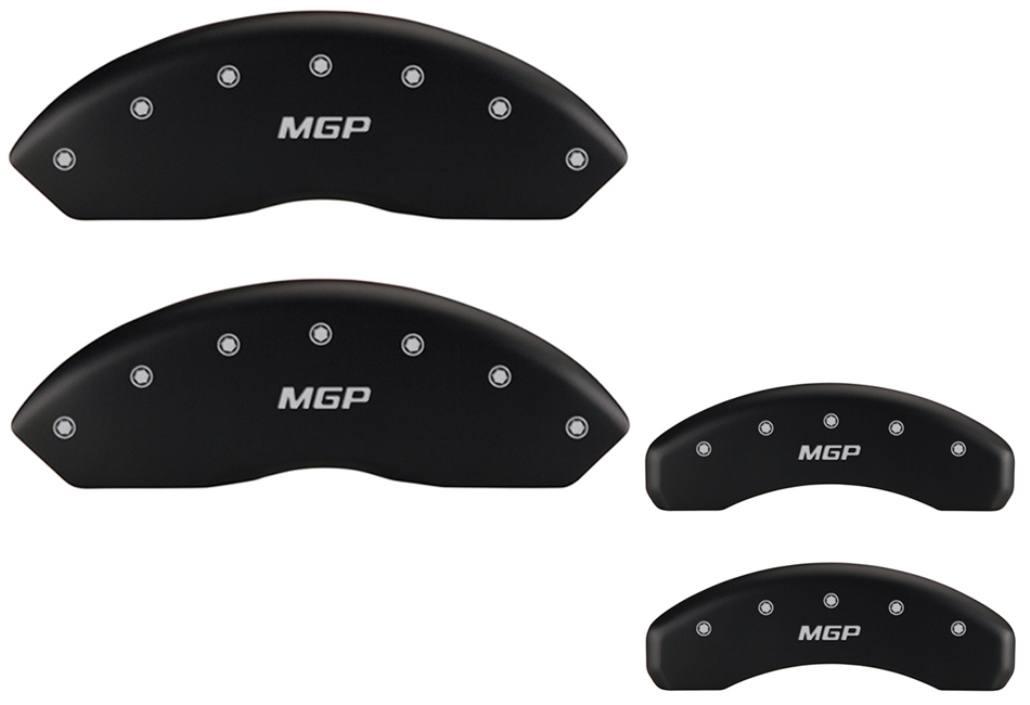 MGP Mustang EcoBoost Caliper Covers - Matte Black w/ MGP logo - Front and Rear (2015-2020)