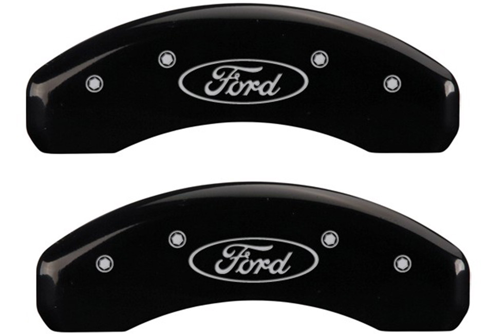 MGP Fusion Glossy Black Caliper Covers w/ Bolts (13-18)