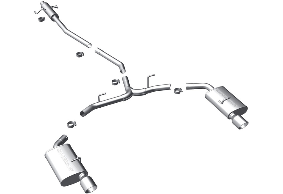 Magnaflow Fusion AWD 3.0L / 3.5L Cat-Back Exhaust System  (2007-2012)