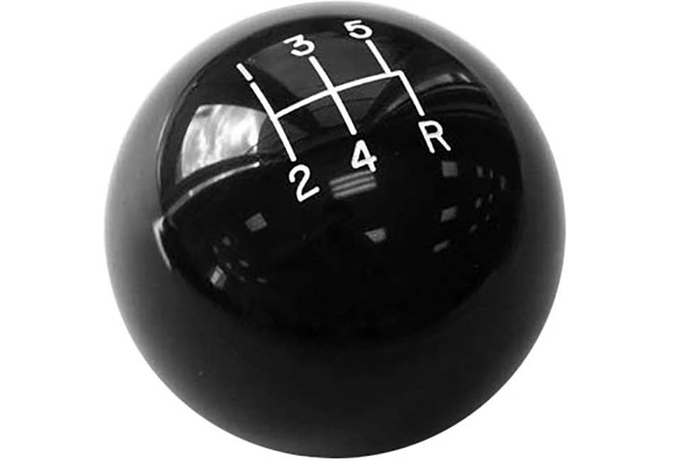 Kirban Mustang Black Cue Ball Shifter Knob (79-04)