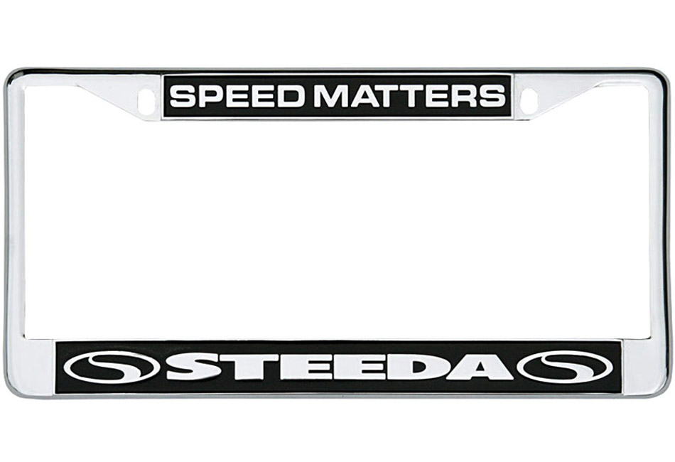 Steeda Chrome License Plate Frame