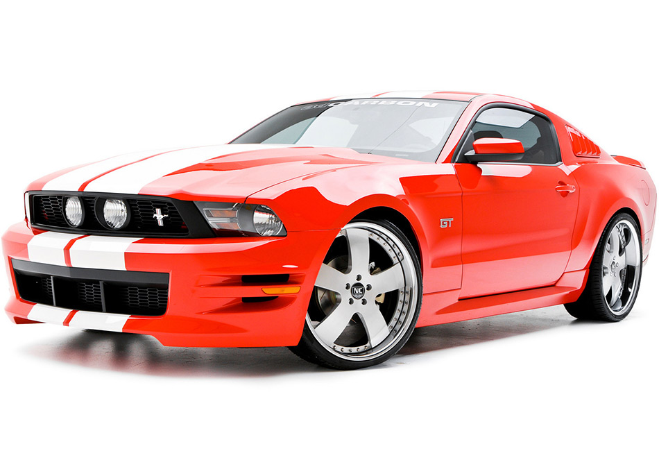 3D Carbon Boy Racer Mustang Body Kit - Unpainted (10-12 GT, V6)