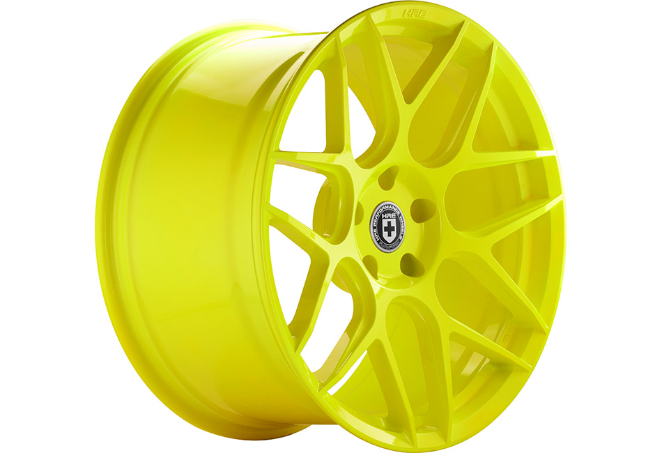 HRE FlowForm FF01 Hyper Yellow Mustang Wheel - 20x10.5 (2005-2021)