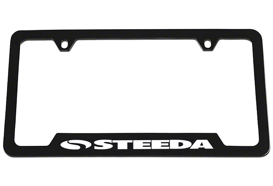 Steeda Black License Plate Frame