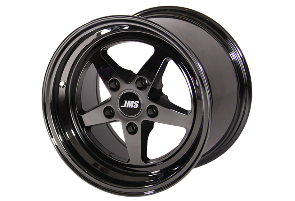 JMS Mustang Avenger Series Rear Wheel - Black Chrome - 17x10 (05-20 GT/V6/EcoBoost/GT500)