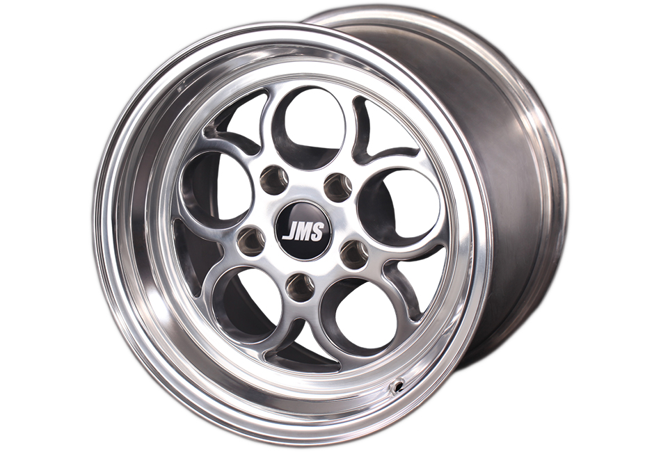 JMS Mustang Savage Series Front Wheel - Polished - 17x4.5 (1994-2021)