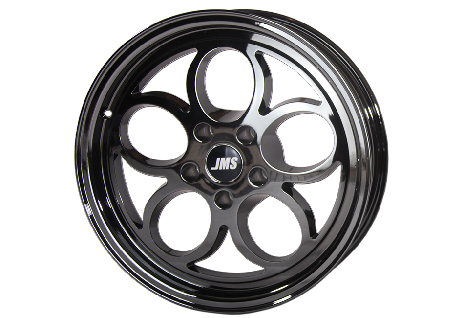 JMS Mustang Savage Series Front Wheel - Black Chrome - 17x4.5 (94-20 GT/V6/EcoBoost/GT500)