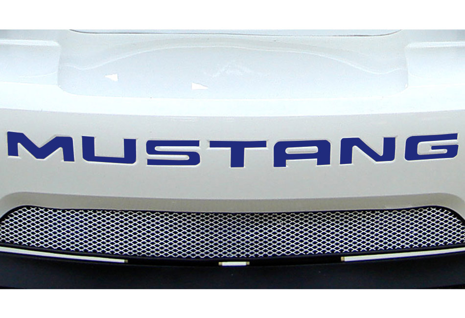 Steeda Mustang Rear Bumper Insert Decal - Blue (99-04)
