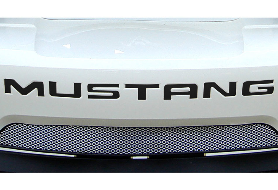 Steeda Mustang Rear Bumper Insert Decal - Black (94-98)
