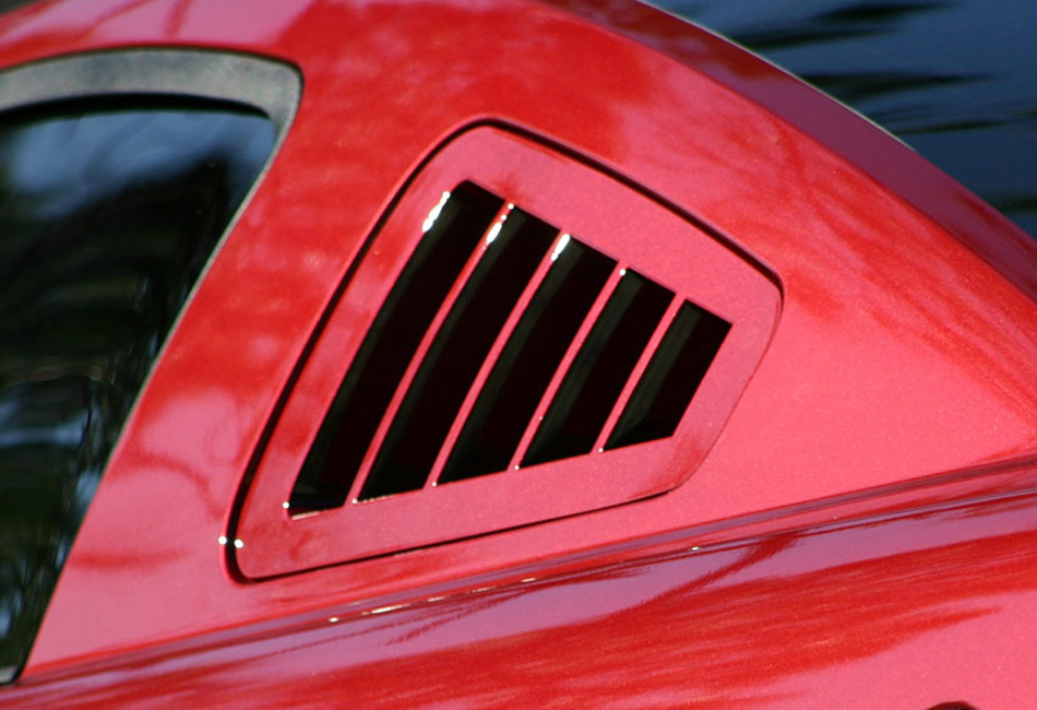 SilverHorse Mustang Flush Mount Window Louvers - Unpainted (2010-2014)