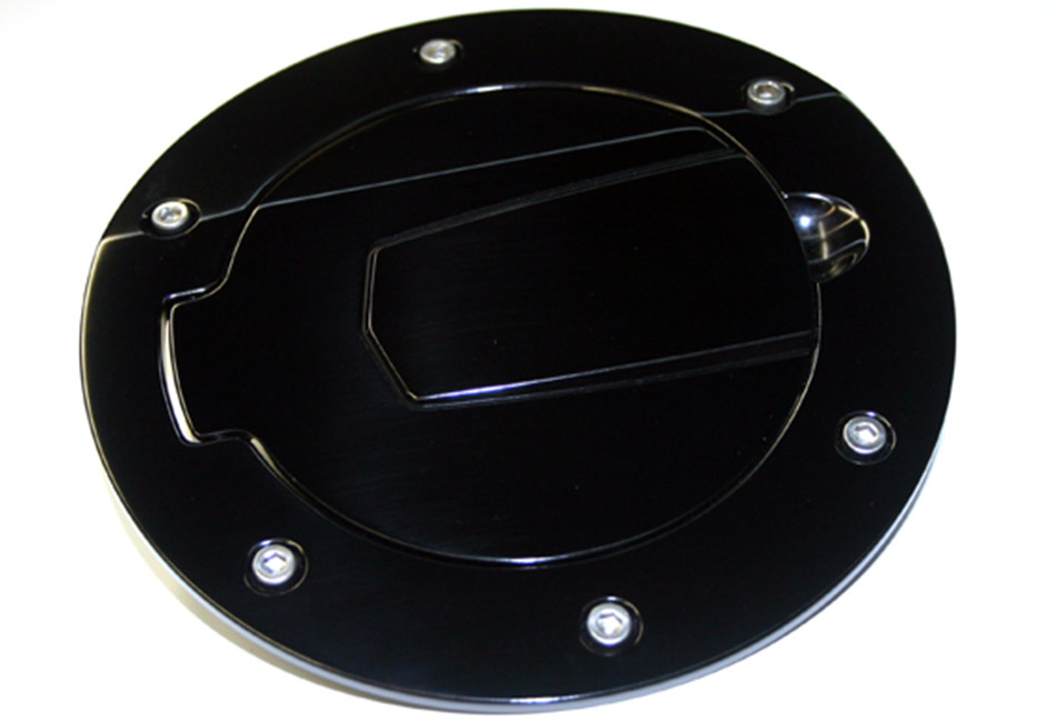 Silverhorse Mustang Billet Fuel Filler Door - Black/No Logo (10-14 All)