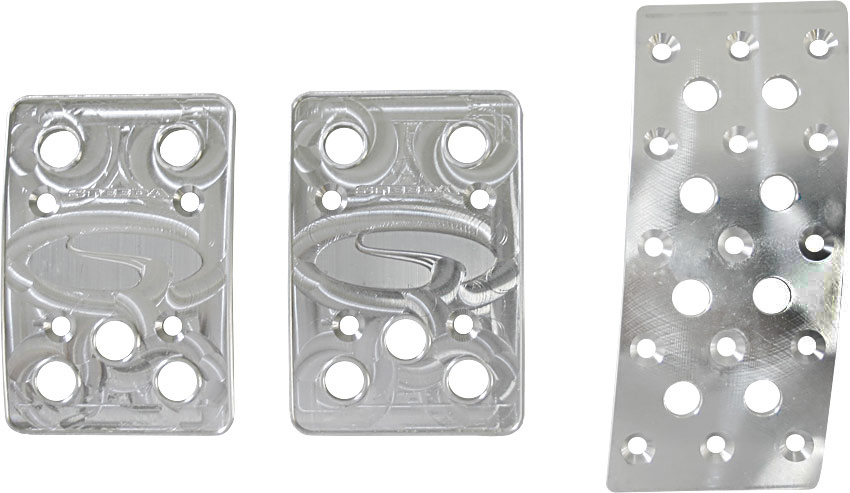 Steeda Aluminum Mustang Pedal Covers - 3 Piece/Curved Gas (79-04 Manual)