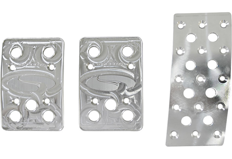 Steeda Mustang Manual Aluminum Pedal Covers - 3 Piece/Flat Gas (1979-2004)
