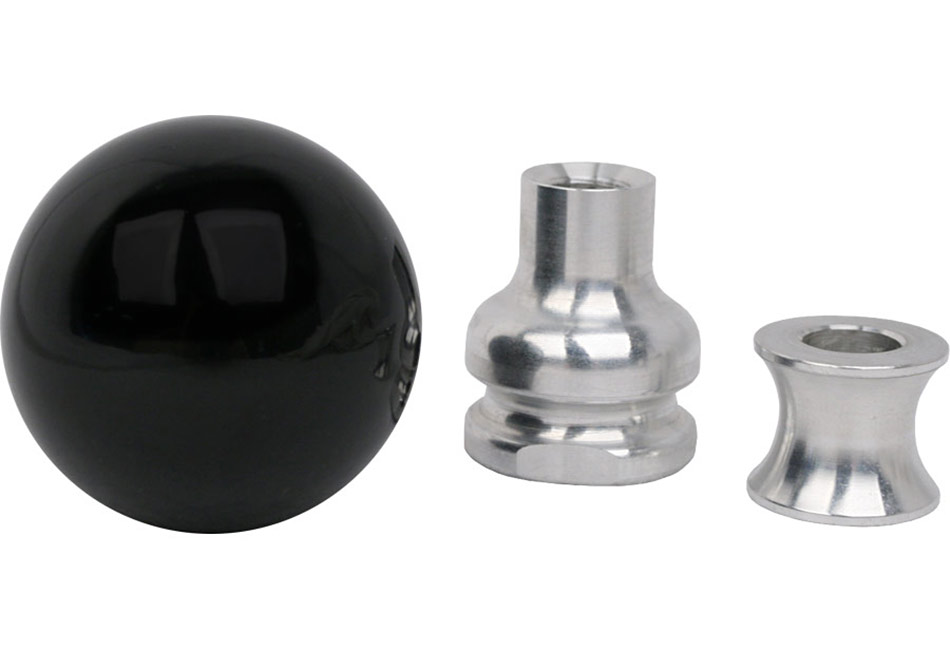 Steeda Mustang Black Cue Ball Shift Knob w/ Collar (05-10)