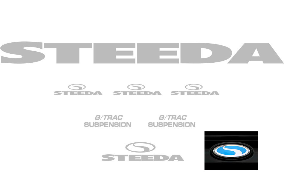 Steeda G/Trac Graphics Package - Silver