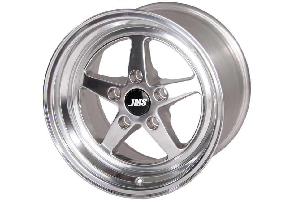 JMS Mustang Avenger Series Front Wheel - Polished - 17x4.5 (1994-2021)