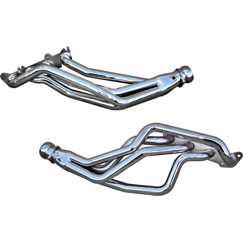 BBK Silver Ceramic Coyote 5.0L Swap Long Tube Mustang Headers (79-04)