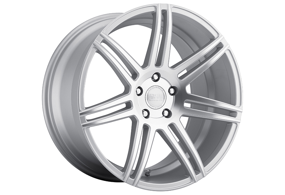 Concept One Wheels CSM-7 Matte Silver Machined Wheel - 20x10.5 (94-04)