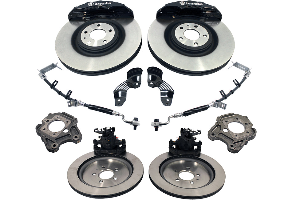 Ford Performance Mustang Six Piston 15 Inch Brembo Brake Upgrade Kit (2005-2014)