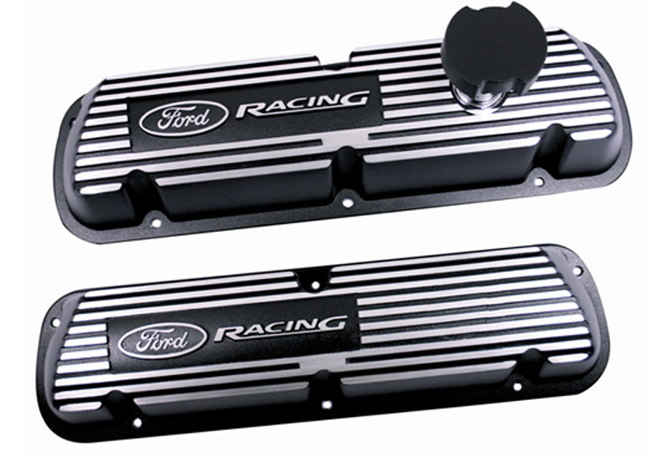 Ford Performance Black Satin Aluminum Valve Covers - Pair (86-93 GT)
