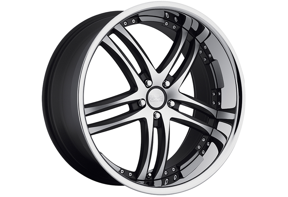 Concept One Wheels RS-55 Matte Black Machined Executive Edition Wheel - Non Brembo Brakes - 20x8.5 (05-15)