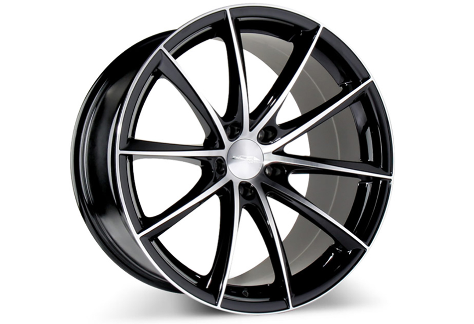 Ace Alloy Convex Gloss Black Machined Wheel 18x7.5 (05-19)