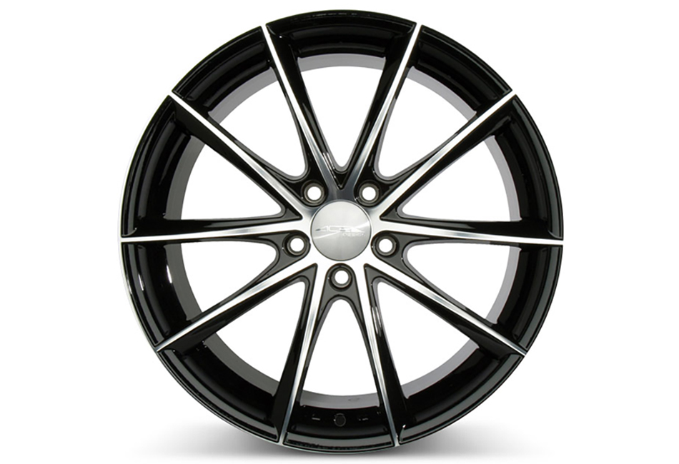 Ace Alloy Convex Gloss Black Machined Wheel 19x10 (05-19)