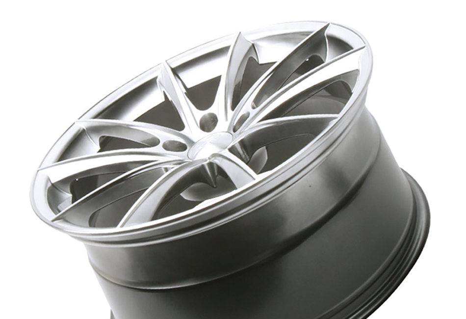 Ace Alloy Convex Hypersilver Machined Wheel 19x8.5 (05-19)