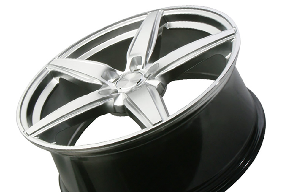 Ace Alloy Couture Hypersilver Machined Wheel 19x8.5 (05-19)
