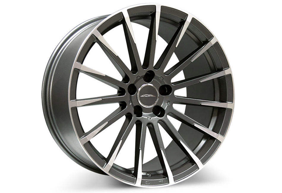 Ace Alloy Devotion Mica Grey Machined Wheel 19x10 (05-19)