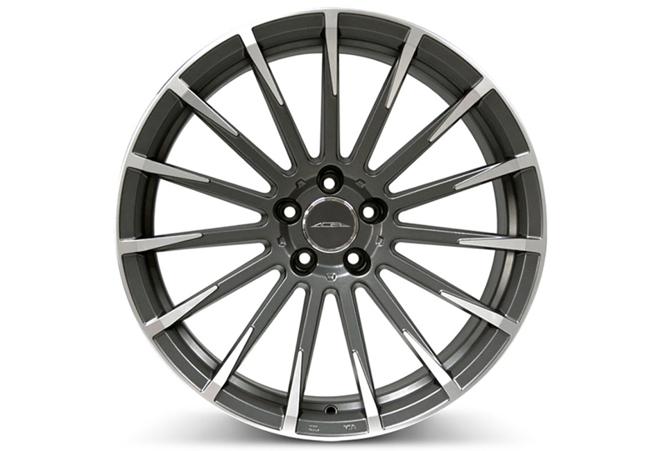 Ace Alloy Devotion Mica Grey Machined Wheel 20x8.5 (05-19)
