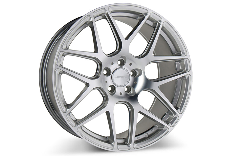 Ace Alloy Mesh-7 Hypersilver Machined Wheel 19x10 (05-20)